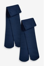 Navy 50 Denier Tights Two Pack (3-16yrs)