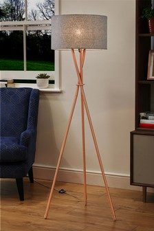 Buy lighting floor lights floorlights from the next uk online shop copper tripod floor lamp mozeypictures Gallery