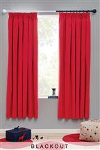 Cotton Blackout Pencil Pleat Curtains