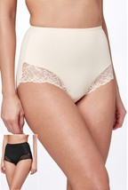 Black/Nude Lace Shorts Two Pack.