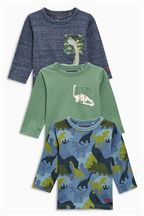 Blue Dinosaur Tops Three Pack (3mths-6yrs)
