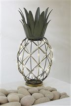 Solar Wire Pineapple Lantern