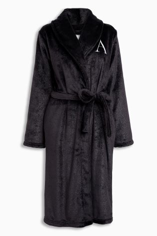 Small/Medium Black Initial Robe