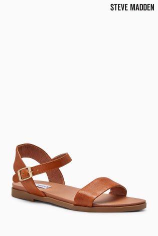 Steve Madden Tan Leather Dina Strap Sandal ...