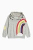 Grey Rainbow Hoody (3mths-6yrs)