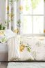 Cotton Sateen Yellow Floral Bed Set