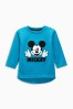 Blue Mickey Mouse™ Long Sleeve T-Shirt (3mths-6yrs)