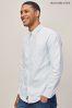 Abercrombie & Fitch Blue/White Stripe Oxford Shirt