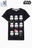 Black Star Wars™ Xmas Faces T-Shirt (3-14yrs)