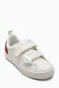 White Velcro Rainbow Trainers (Younger Girls)