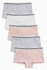 Pink/Grey Boxers Five Pack (3-16yrs)