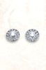 Sterling Silver Cushion Set Stud Earrings