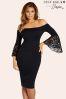 Jessica  Wright Frill Sleeve Midi Dress