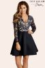 Jessica Wright Lace Contrast Dress