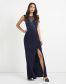 Lipsy Love Michelle Keegan Sequin Artwork Maxi Dress