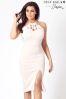 Sistaglam Loves Jessica Halter Neck Lace Midi Dress