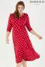 Scarlett & Jo Lollidot Cowl Neck 40s Dress
