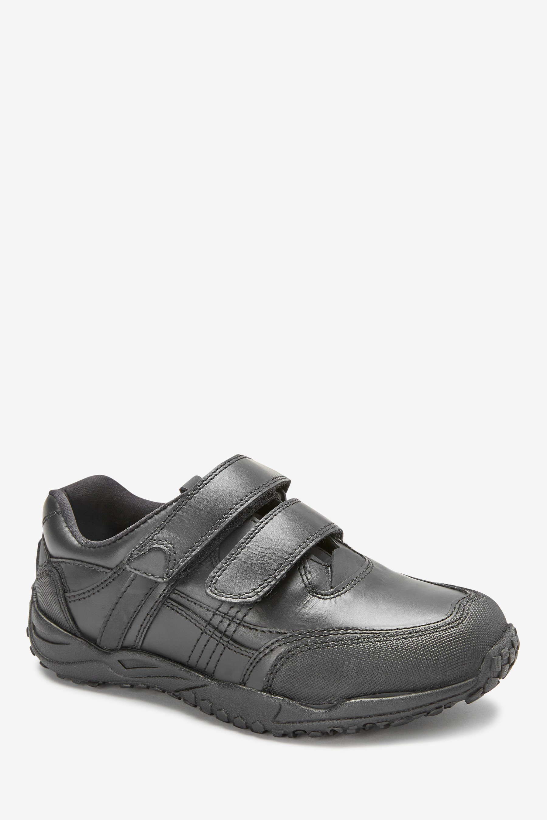 Boys Next Black Sporty Double Strap Shoes (Older Boys)