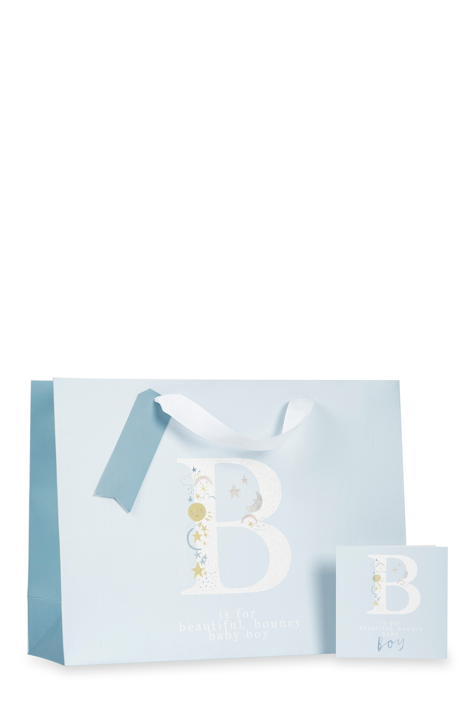 Compare retail prices of Boys Next Baby Boy Monogram Bag, Card And Tissue Set - Blue to get the best deal online