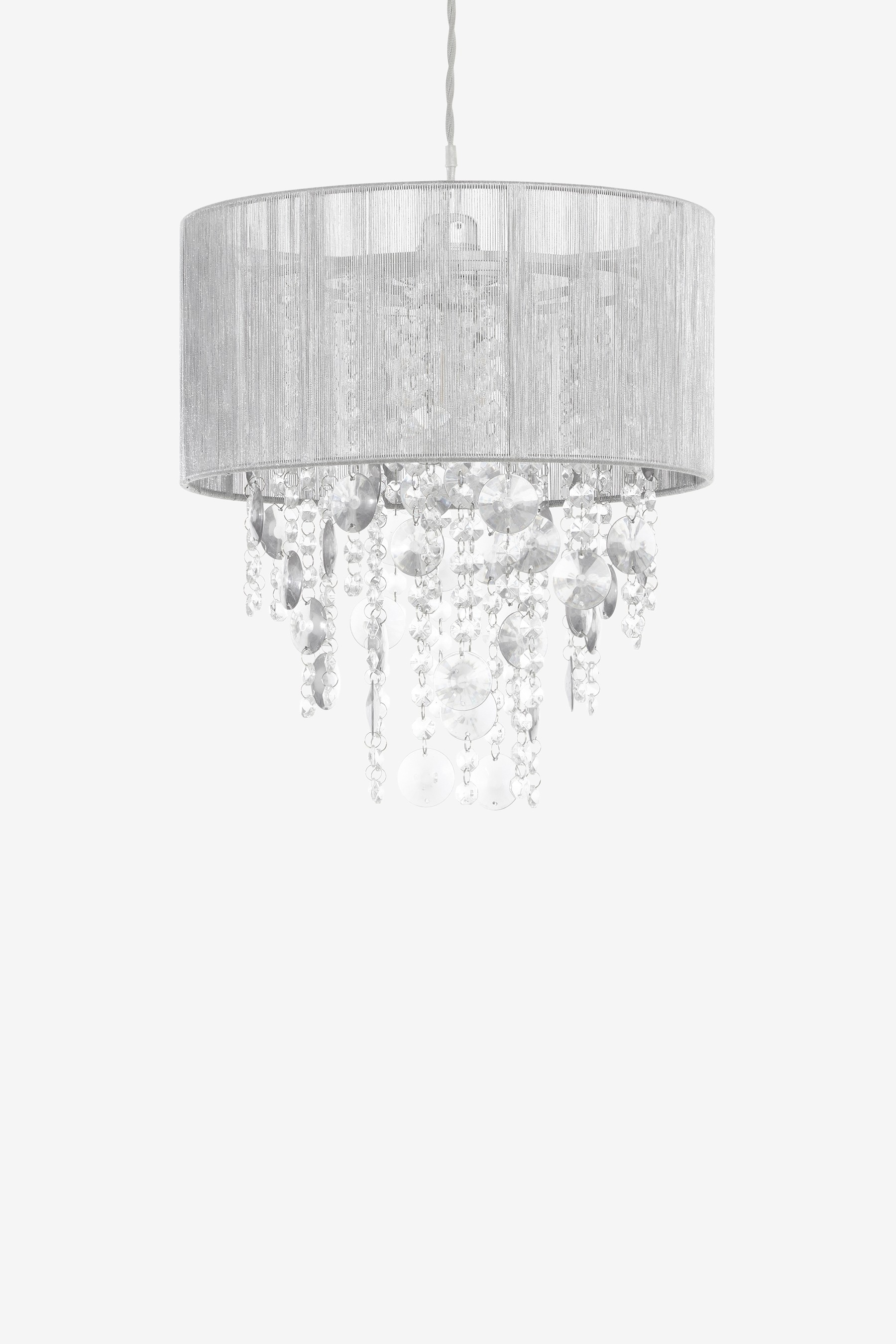 Next palazzo shadelier grey bluewater for How to make a chandelier out of a lamp shade