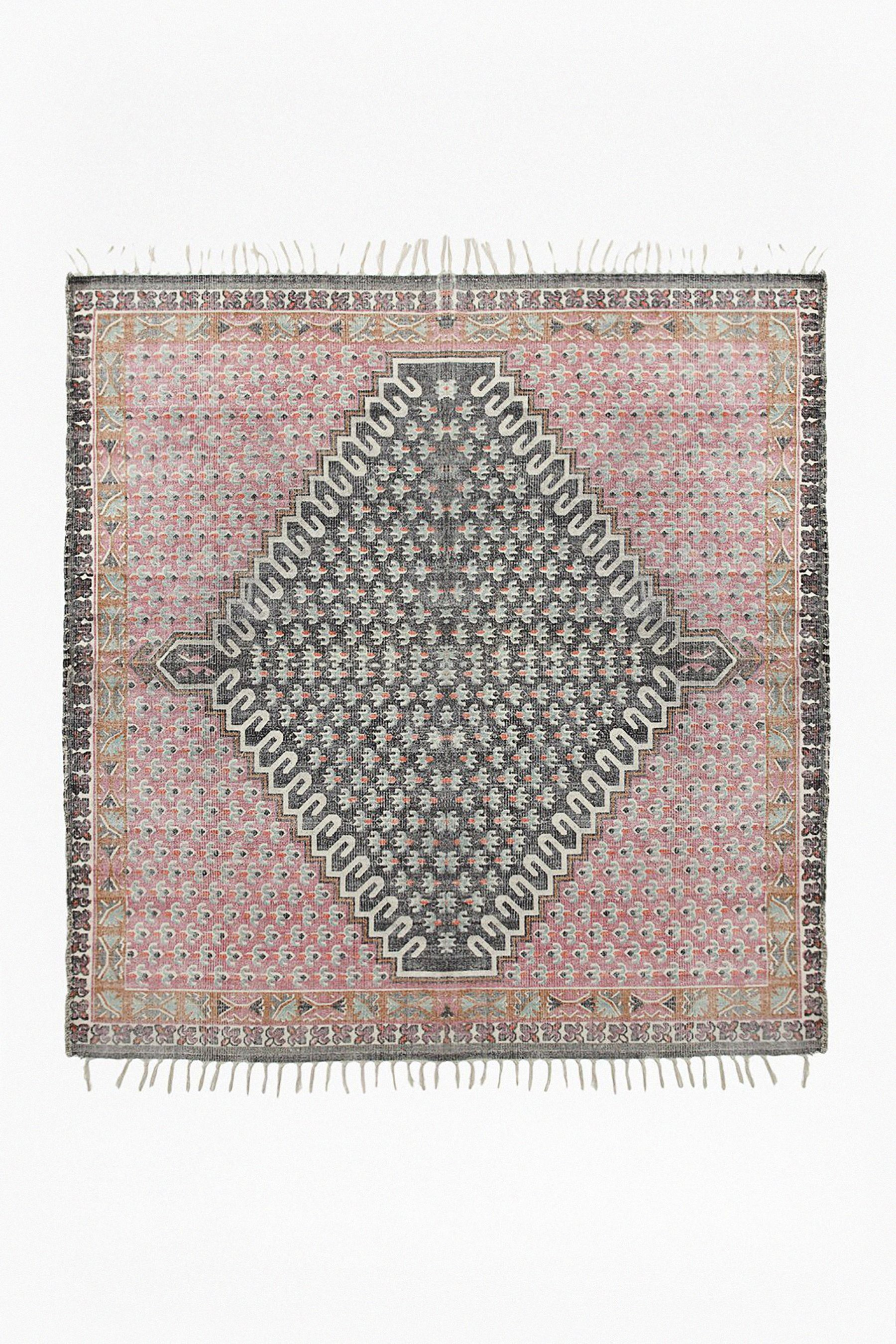 Compare prices for French Connection Poppy Field Square Rug Pink