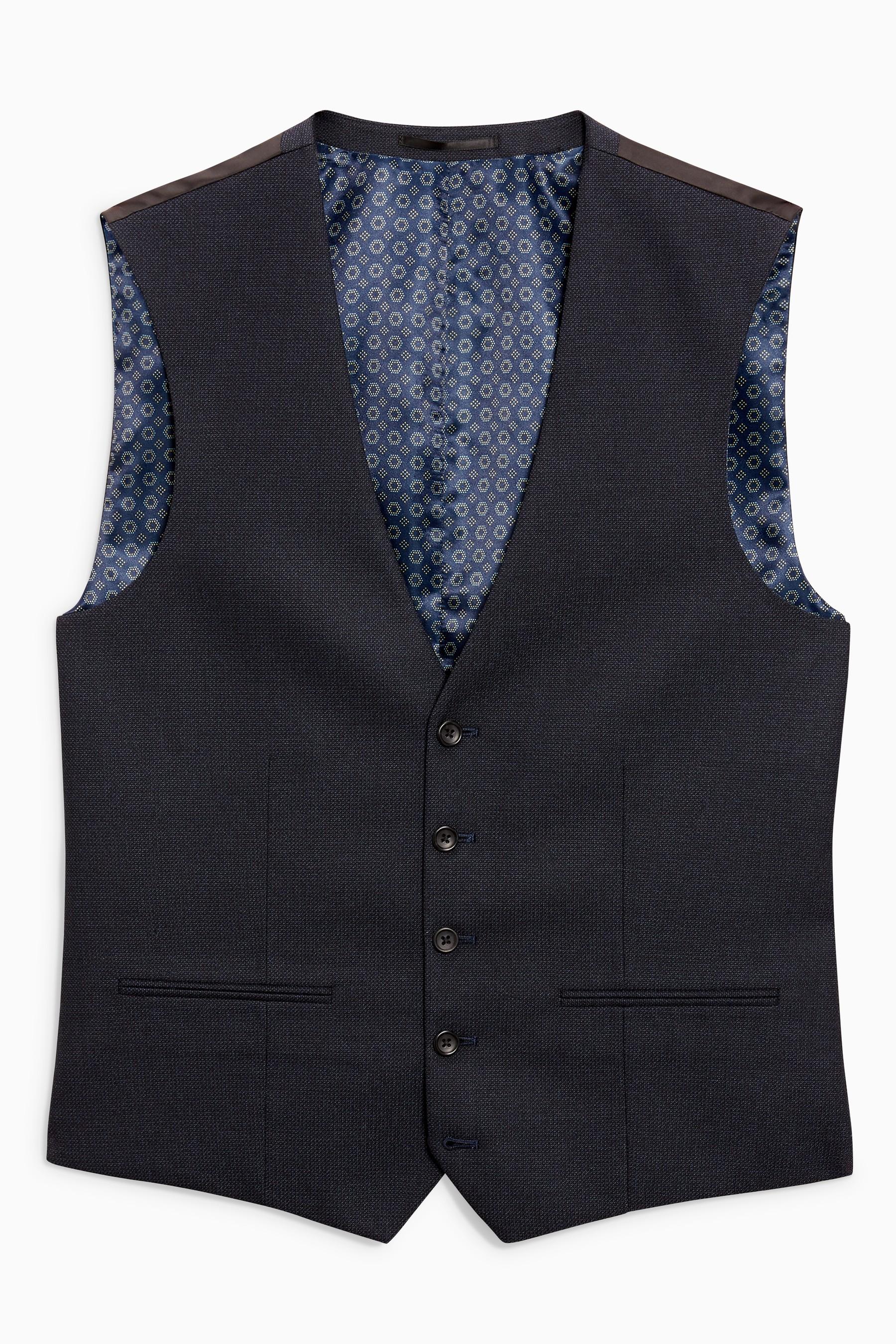 Next women's grey patterned wool Waistcoat size UK10 EU38 US6 () Armpit to armpit: 18
