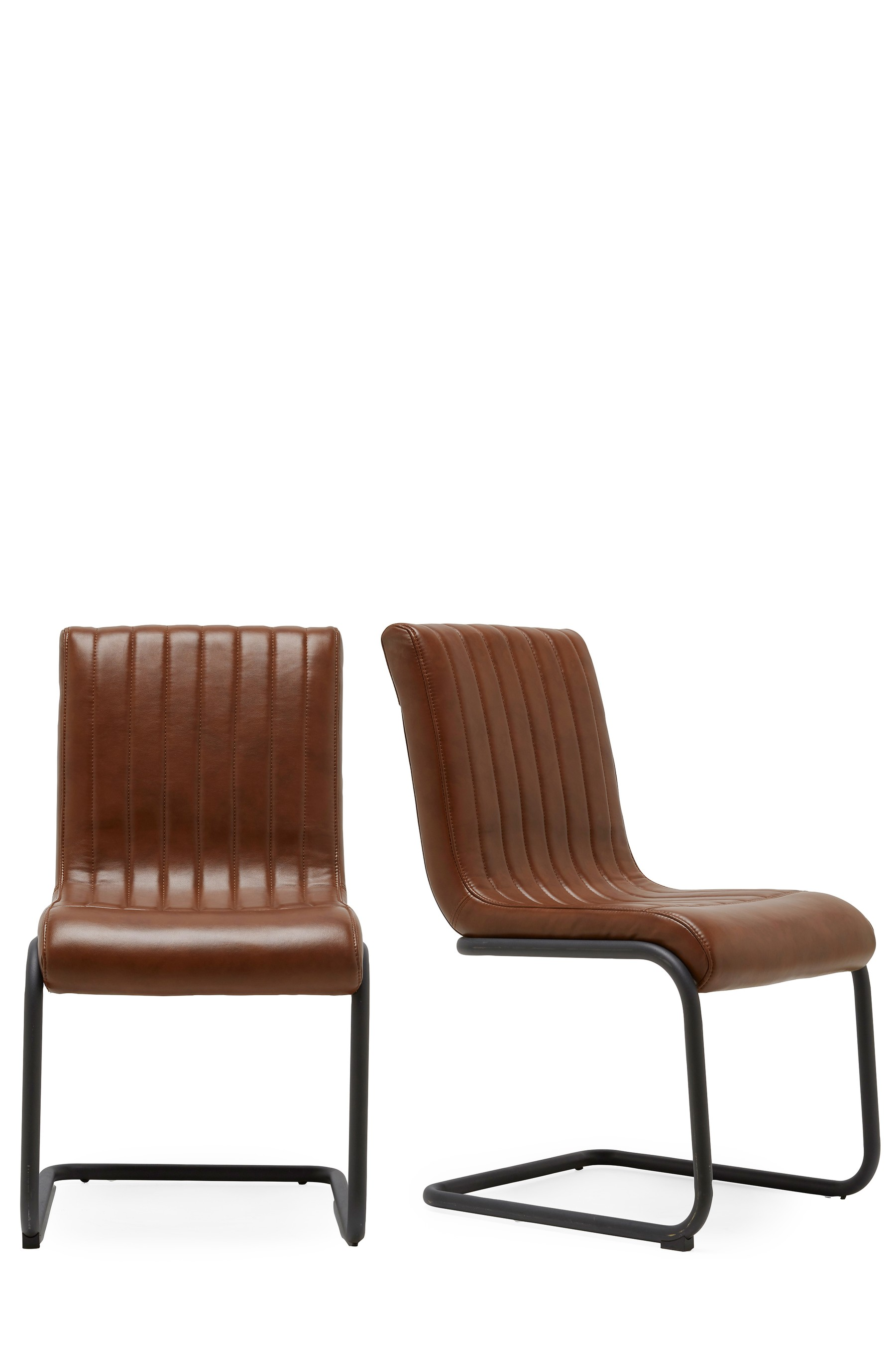 Next set of 2 bernie faux leather dining chairs for Next dining chairs