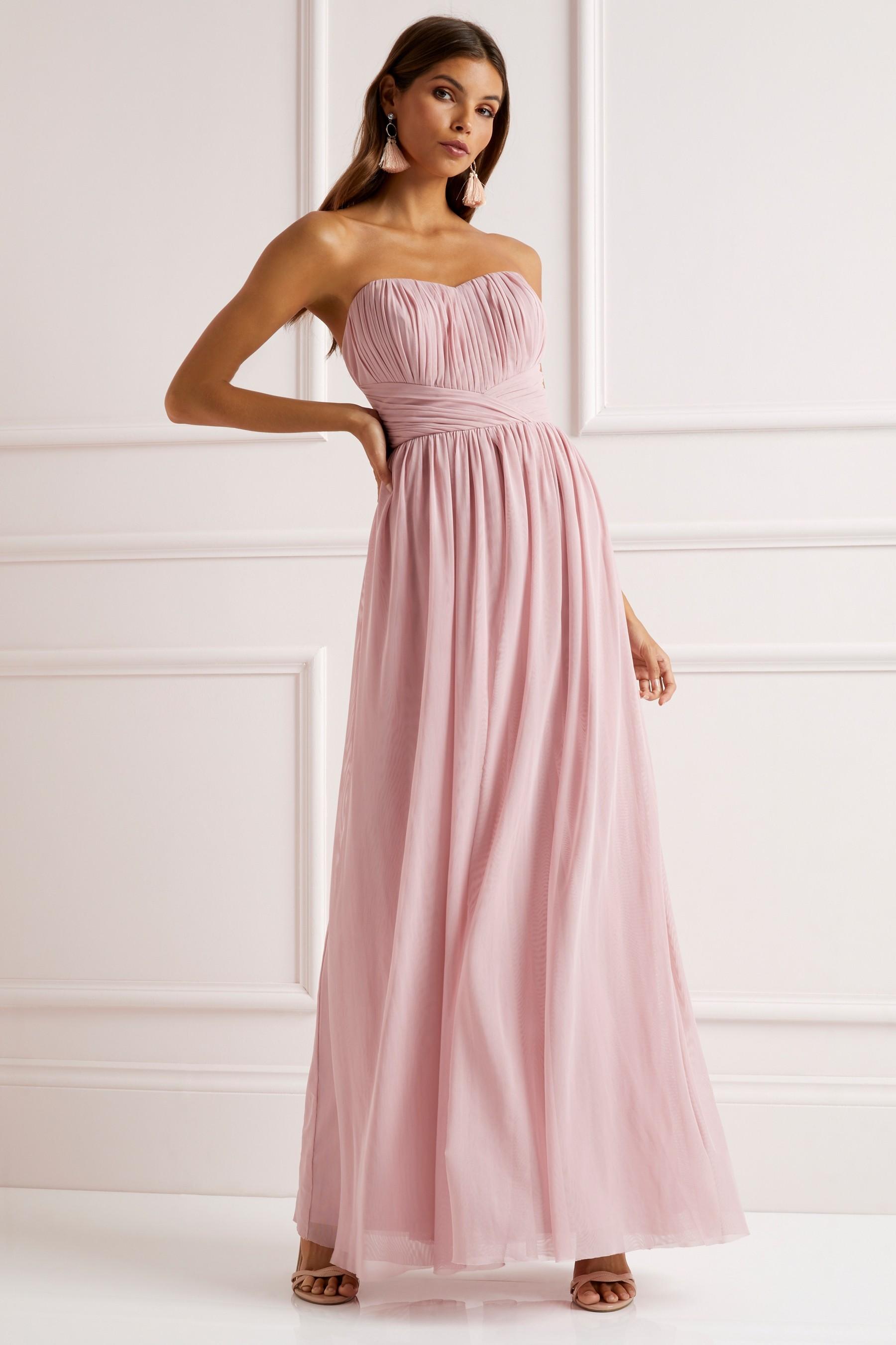 Womens Lipsy Bella Bandeau Multiway Maxi Dress - Pink | £78.00 ...