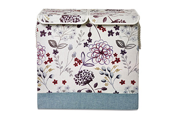 Floral Fabric Laundry Sorter