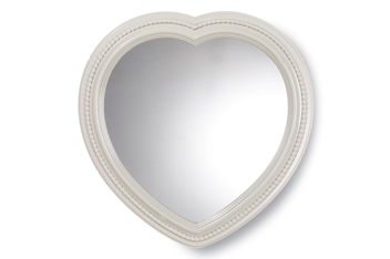 Grey Heart Wall Mirror