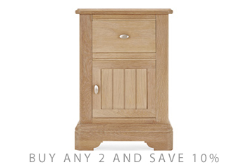 Hampton Oak Bedside Table