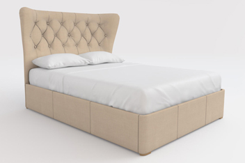 Elise Simple Contemporary Dark Natural Bedstead Without Footboard