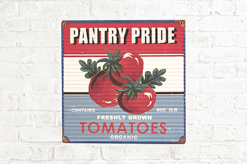 Pantry Pride Tomatoes Tin Plaque