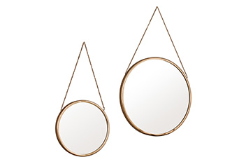 Set Of 2  Finley Copper Mirrors