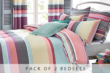 2 Pack Amalfi Stripe Bed Set