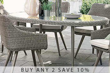 Taranto Dining Set Grey