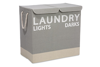 Grey Fabric Laundry Sorter