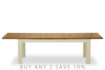 Hartford® Painted 6-10 Seater Double Extending Dining Table