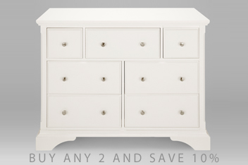 Chest of drawers white pine oak bedroom drawers next for Furniture 30cm deep