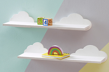 Set Of 2 Cloud Shelves