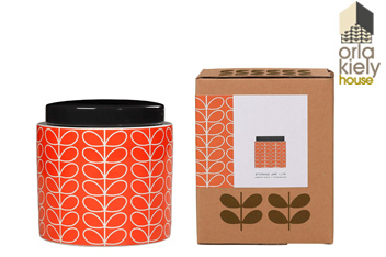 Orla Kiely Linear Stem Persimmon 1 Litre Storage Jar