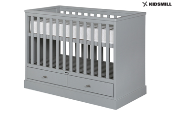 Newport Grey Cot Bed By Kidsmill