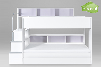 White Storage Bunk Bed By Kids Avenue