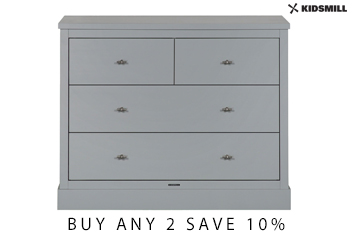 Newport Grey 4 Drawer Chest By Kidsmill