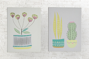 Set of 2 Contemporary Canvases