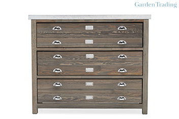Garden Trading 3 Drawer Architect's Cabinet