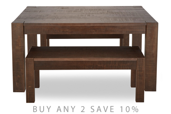 Kendall Dining Table And Bench Set