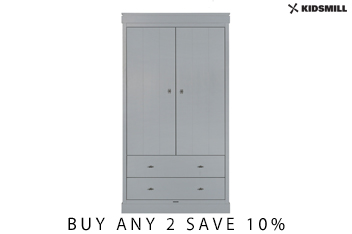 Newport Grey Wardrobe By Kidsmill