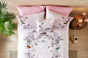 Ted Baker Pink Enchanted Dream Duvet Cover