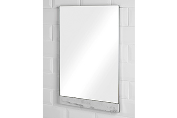 Marble Effect Wall Mirror